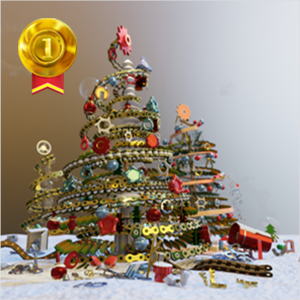14th TraceParts Christmas Tree Design Contest: The winners have been announced