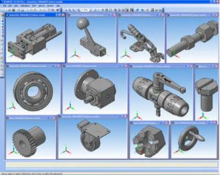 KOMPAS-3D provides direct access to TraceParts catalogs