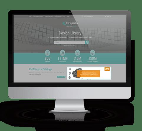 Premium Banner on the TraceParts CAD Content Platform